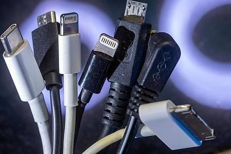 Die EU-Kommission will am Donnerstag einen Gesetzesvorschlag für einheitliche Ladebuchsen an Handys, Tablets und anderen Elektrogeräten machen. Foto: Jens Büttner/dpa-Zentralbild/dpa