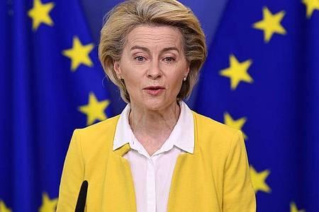 «Die Lage bessert sich in den USA und hoffentlich auch in der Europäischen Union», sagte EU-Kommissionschefin Ursula von der Leyen in einem Interview. Foto: John Thys/AP/dpa