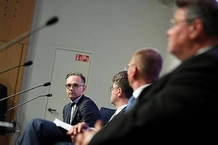Außenminister Heiko Maas mit seinen baltischen Amtskollegen bei einem Treffen in Tallinn. Foto: Britta Pedersen/dpa-Zentralbild/dpa