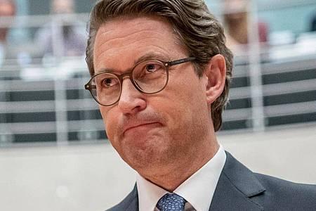 Ist vor den Maut Untersuchungsausschuss getreten:Verkehrsminister Andreas Scheuer. Foto: Michael Kappeler/dpa