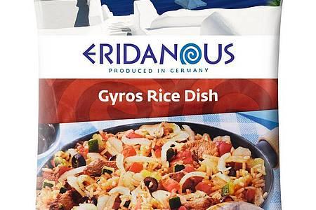 Lidl ruft das Reisgericht «Eridanous Gyros Reispfanne (Gyros Rice Dish), 750g» zurück. Foto: Lidl/obs