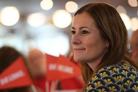 Janine Wissler ist Fraktionsvorsitzende der Linken im Hessischen Landtag. Foto: Angelika Warmuth/dpa