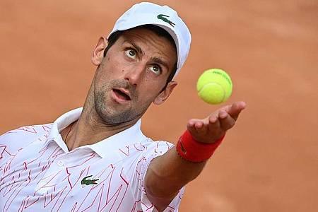Novak Djokovic hat beim ATP-Turnier in Rom das Finale erreicht. Foto: Alfredo Falcone/LaPresse via ZUMA Press/dpa