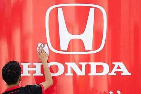 steigt 2021 aus der Formel-1-Weltmeisterschaft aus: Motorenlieferant Honda. Foto: Sebastian Gollnow/dpa