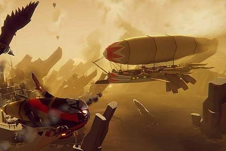 Rasante Gefechte:Die Luftkämpfe in «The Falconeer» sind spektakulär - und mit der Zeit ganz schön knifflig. Foto: Wired Productions/dpa-tmn