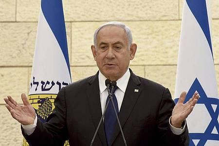 Benjamin Netanjahu scheitert mit der Regierungsbildung nach der vierten Parlamentswahl binnen zwei Jahren. Foto: Debbie Hill/Pool UPI/AP/dpa