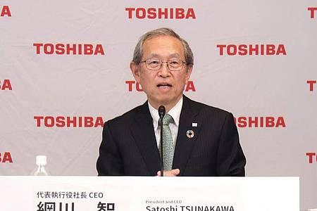 Eine Woche nach Bekanntwerden eines Übernahmeangebots für den japanischen Technologiekonzern Toshiba durch einen Finanzinvestor aus Europa ist Konzernchef Nobuaki Kurumatani überraschend zurückgetreten. Foto: Toshiba Corporation/dpa