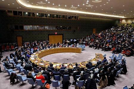 Der UN-Sicherheitsrat bei einer Sitzung im Januar. Foto: --/XinHua/dpa