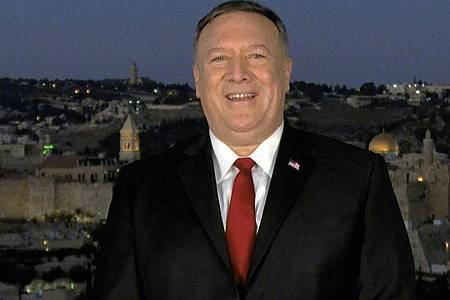 Die Ansprache von Mike Pompeo wurde in Jerusalem aufgezeichnet. Foto: Uncredited/Courtesy of the Committee on Arrangements for the 2020 RNC/AP/dpa