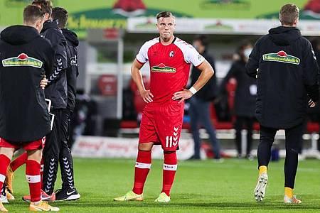 Spielt beim SC Freiburg bislang nur eine Nebenrolle. Ermedin Demirovic (M). Foto: Tom Weller/dpa