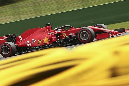 Sebastian Vettel scheiterte mit seinem Ferrari in Q2. Foto: Francisco Seco/AP Pool/dpa