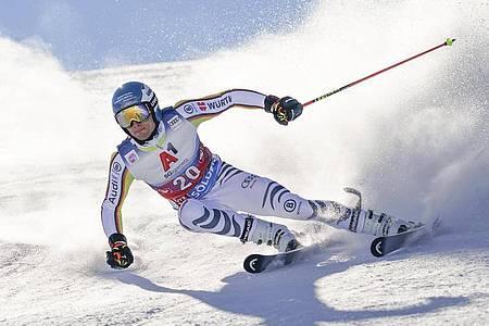Bester Deutscher nach dem ersten Durchgang in Sölden: Alexander Schmid. Foto: Giovanni Auletta/AP/dpa