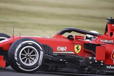 Sebastian Vettel wurde im Ferrari nur Zehnter. Foto: Bryn Lennon/PoolGetty/AP/dpa