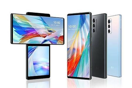 Gib mir ein T: LG bringt sein neues Smartphone-Modell Wing im November für 1100 Euro auf den Markt. Foto: LG Electronics/dpa-tmn