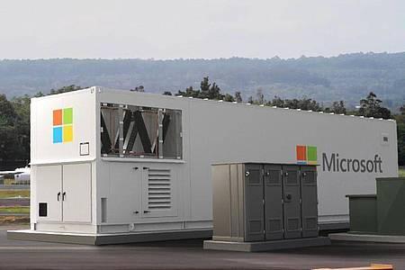 Das mobile «Azure Modular Datacenter». Microsoft will seinen Clouddienst Azure künftig auch in den entlegensten Gebieten der Welt anbieten. Foto: Microsoft/dpa