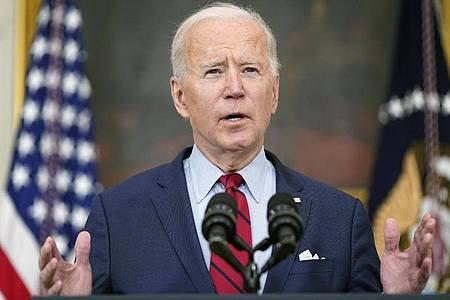 Steht heute den Journalisten in Washington Rede und Antwort: Joe Biden. Foto: Patrick Semansky/AP/dpa