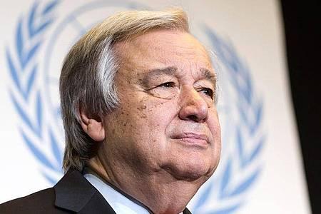 «Die Welt steht vor einer noch nie dagewesenen Prüfung», sagt UN-Chef Guterres. Foto: Cyril Zingaro/KEYSTONE/dpa