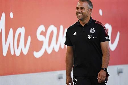 Sieht sein Team gut gewappnet für Chelsea: Bayern-Coach Hansi Flick. Foto: Matthias Balk/dpa
