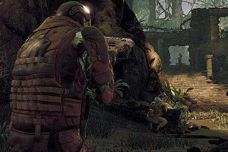Wo ist der Predator?Wo ist er?In «Predator:Hunting Grounds» wird die mystische Alien-Kreatur gejagt. Foto: Sony Interactive Entertainment/dpa-tmn