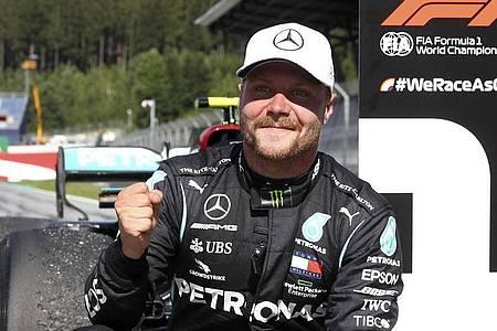 Mercedes-Pilot Valtteri Bottas siegte in Spielberg. Foto: Mark Thompson/pool Getty/AP/dpa