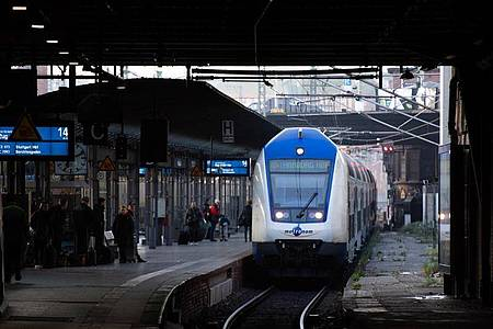 Ein Zug fährt in den Hauptbahnhof in Hamburg ein. Foto: Daniel Reinhardt/dpa/Symbolbild