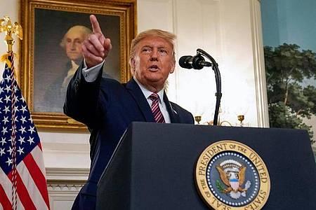 Donald Trump spricht im Rahmen einer Veranstaltung im Weißen Haus. Foto: Evan Vucci/AP/dpa