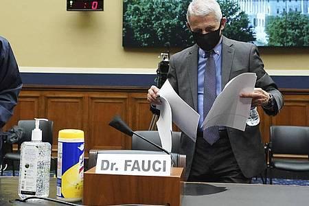 Anthony Fauci ist Direktor des Nationalen Instituts für Infektionskrankheiten. Foto: Kevin Dietsch/Pool UPI/AP/dpa