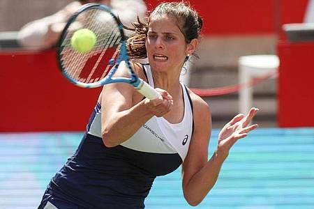 Wird nicht bei den US Open in New York spielen: Julia Görges. Foto: Andreas Gora/dpa