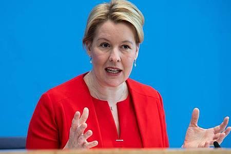 Franziska Giffey von der SPDist Bundesfamilienministerin. Foto: Bernd von Jutrczenka/dpa-Pool/dpa