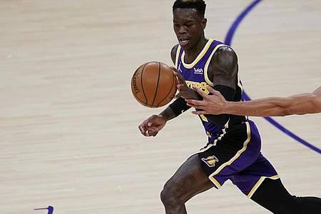 Dennis Schröder blieb beim Sieg der Lakers unauffällig. Foto: Ashley Landis/AP/dpa