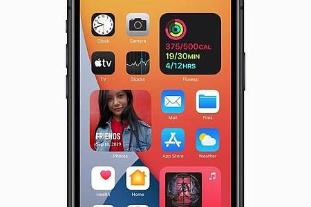 Neue Funktionen: Der iOS-14-Homescreen mit Widgets. Foto: Apple/dpa-tmn
