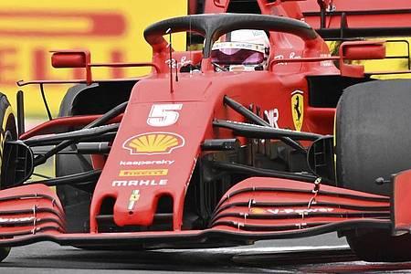 Sebastian Vettel kam als Sechster ins Ziel. Foto: Joe Klamar/Pool AFP/AP/dpa