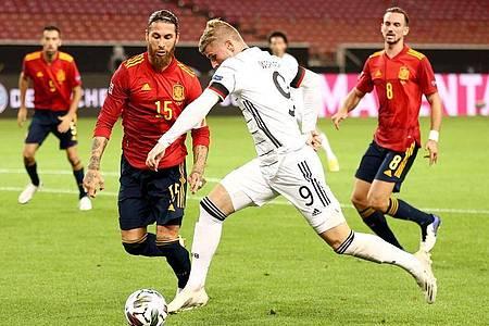 Das Tor von Timo Werner reichte letztlich nicht zum Sieg gegen Spanien. Foto: Christian Charisius/dpa