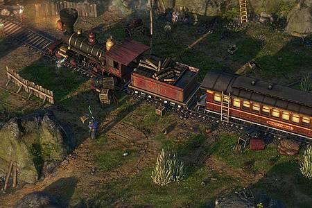 In «Desperados 3» kommen nahezu alle gängigen Western-Klischees vor - natürlich auch ein Zugüberfall. Foto: THQ Nordic/dpa-tmn