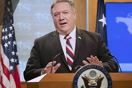 US-Außenminister Mike Pompeo kritisiert das Vorgehen Chinas. «Ich hoffe, sie werden das überdenken.». Foto: Manuel Balce Ceneta/AP/dpa