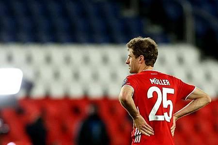Die Enttäuschung ist Thomas Müller vom FC Bayern München anzusehen. Foto: Sebastien Muylaert/dpa