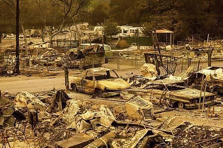 Die Waldbrände in Kalifornien haben Tausende Menschen aus ihren Häusern getrieben. Foto: Noah Berger/AP/dpa