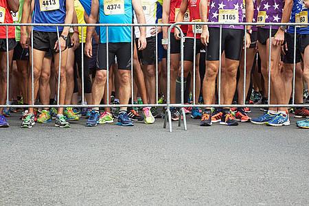 Läufer treiben Sport in Warendorf