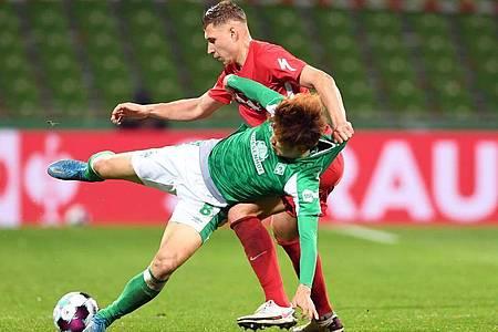 DFB-Pokal Halbfinale im Wohninvest Weserstadion in Bremen. Foto: Carmen Jaspersen/dpa