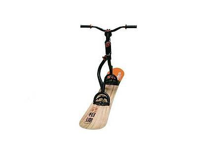 Der Skibrid Neo macht das Snowboard zum Snowscooter. Foto: Skibrid/dpa-tmn