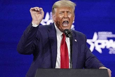 Donald Trump plant seinComeback in denSozialen Medien. Foto: John Raoux/AP/dpa/Archivfoto