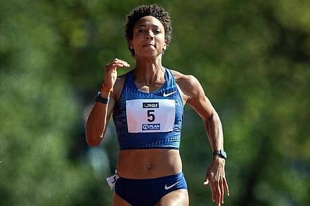 Malaika Mihambo strebt bei den Olympischen Spielen 2021 in Tokio einen Start über 100 Meter an. Foto: Bernd Thissen/dpa