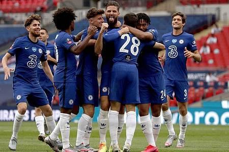 Der FC Chelsea steht nach dem Sieg gegen Manchester United im FA-Cup-Finale. Foto: Alastair Grant/Nmc Pool/PA Wire/dpa