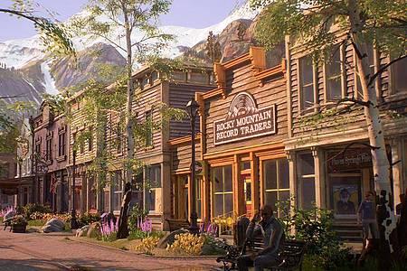 Spielerinnen und Spieler erforschen in «Life is Strange: True Colors» die idyllische Bergstadt Haven Springs. Foto: Square Enix/dpa-tmn
