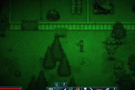 Mission bei Nacht und Nachtsichtgeräteflimmern:«CryoFall» stellt Spieler vor etliche Herausforderungen - auch jenseits von Crafting. Foto: Daedalic/dpa-tmn