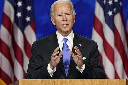 Nun auch offiziel:Joe Biden ist der Präsidentschaftskandidat der Demokraten. Foto: Andrew Harnik/AP/dpa
