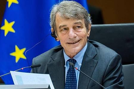 David Sassoli, Präsident des Europäischen Parlaments, während einer Plenarsitzung des Europäischen Parlaments in Brüssel. Foto: -/European Union/XinHua/dpa