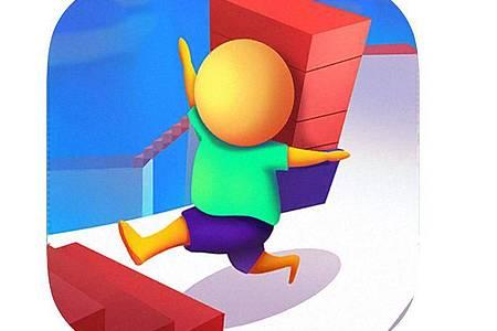 Die Gaming-App «Treppenlauf» basiert auf einem Hindernislauf, bei die Spieler Goldmünzen einsammeln müssen. Foto: App Store von Apple/dpa-tmn