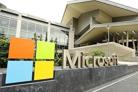 Das Microsoft Visitor Center in Redmond, Washington. Foto: Ted S. Warren/AP/dpa