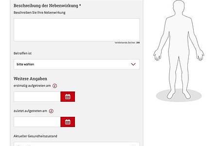 Auf dem Portal «nebenwirkungen.bund.de» kann man Nebenwirkungen von Medikamenten direkt an die zuständigen Bundesbehörden melden. Foto: nebenwirkungen.bund.de/dpa-tmn